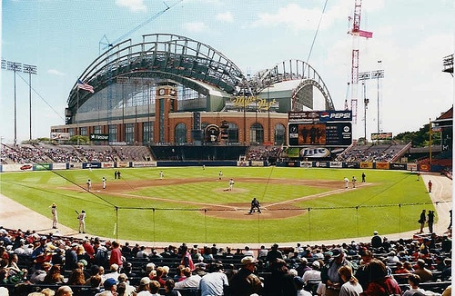 County Stadium - As a kid, the family would take in a weekend at the Milwaukee Zoo and a White Sox-Brewers game.  When the Brewers moved to the NL and Alex went to Marquette, the infamous Brant Brown game will linger forever for the amount of alcohol consumed.  I remember piling into the Jeep after the game, and continuing the debauchery at Angelo's.