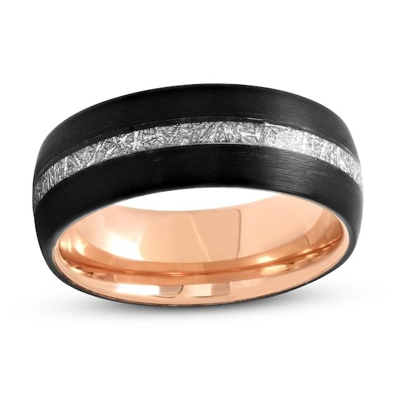 Men S Wedding Band Black Rose Tantalum Stainless Steel Jared In 2020 Mens Wedding Bands Black Mens Wedding Bands Black Wedding Band