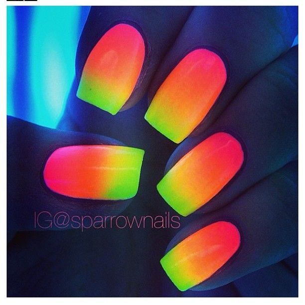 so want to do this just break a glow stick and add to clear nail polish sooooooo easy