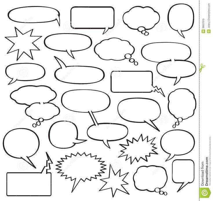 7 Best Images Of Comic Strip Bubbles Printable   Comic Book Speech Bubble  Template, Super Hero Comic Bubble Printables And Comic Strip Template For  Kids