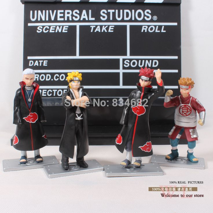 JG Чен Аниме Наруто Узумаки Наруто Хидан Chouji Акимичи PVC Фигурки Коллекционная Модель Игрушки Куклы 4 шт./компл.