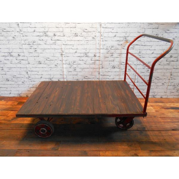 Vintage industrial coffe table cart