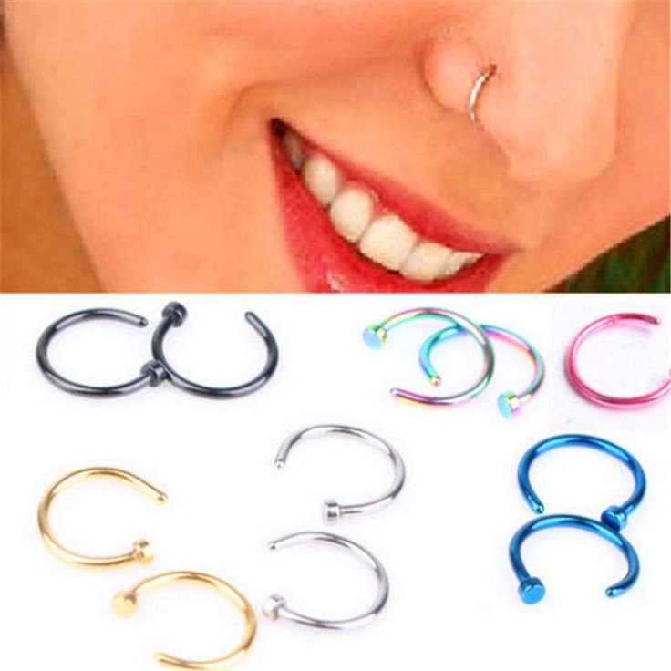 Fashion Fake Septum Medical Titanium Nose Ring Piercing Silver Gold Body Clip Hoop For Women Girls Septum Clip Hoop Jewelry Gift -- Visit the image link more details.