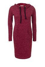Бордовое платье-туника Hood с капюшоном Garne 3030598, купить по цене 719 грн. в Киеве, Днепропетровске, Одессе, Львове - интернет магазин Garne