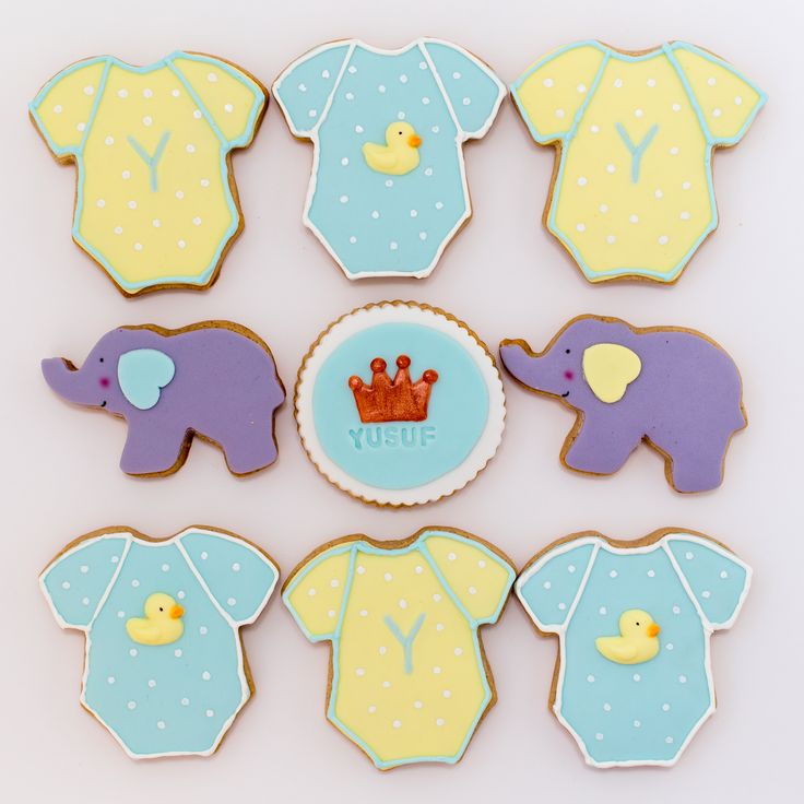 Cute cookies for baby showers