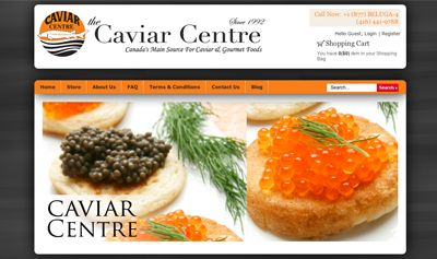 Caviar Centre  Caviar Centre Inc. is a family owned and operated caviar importer, distributor & retailer.  Formed in October 1992, the company has played a pioneering role in introducing premium quality caviar to the Canadian market and educating Canadians about this unique and exotic delicacy.