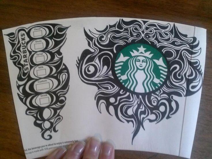 Starbucks coffee cup art