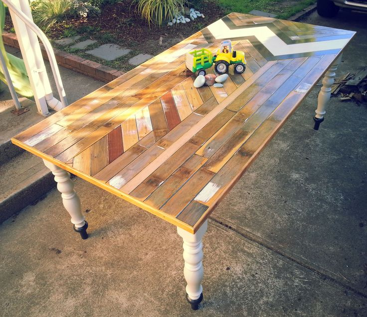 High Quality This Dining Table Is Made Almost Completely Out Of Reclaimed And Recycled  Wood.Table Top ...