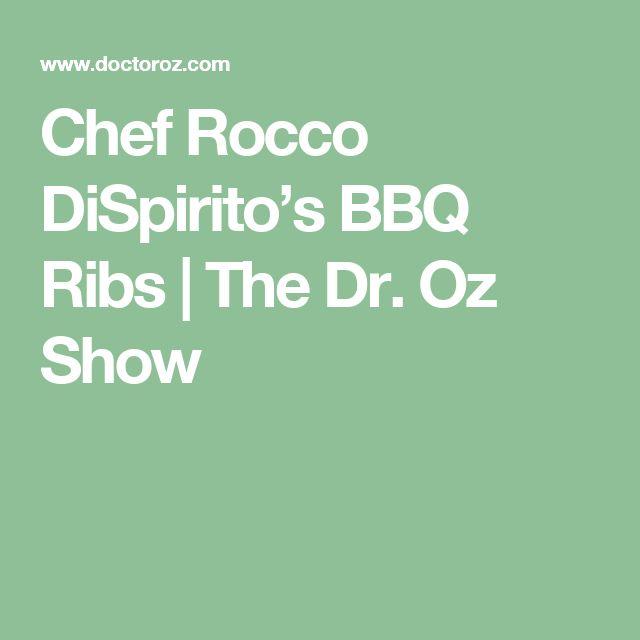 Chef Rocco DiSpirito's BBQ Ribs | The Dr. Oz Show