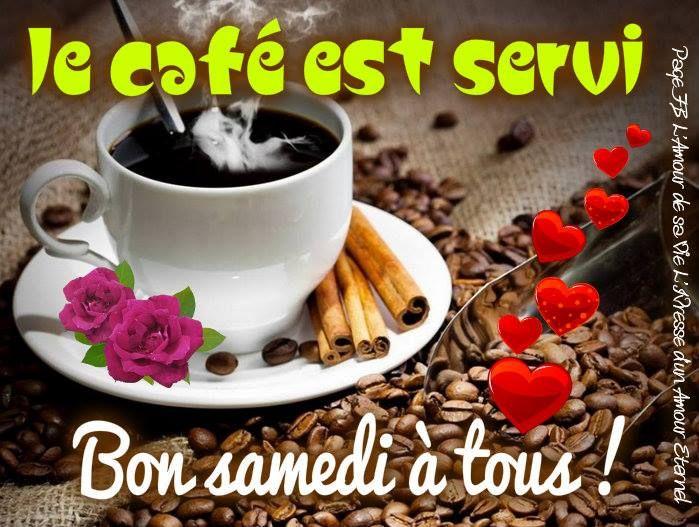 Le café est servi. Bon samedi à tous! #bonsamedi cafe coeurs bon samedi