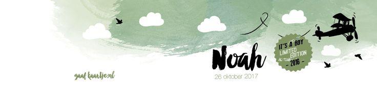 Collectie 2 | Gaafkaartje | Unieke geboortekaartjes | Illustratie | children Illustration | jongen | groen | vliegtuig
