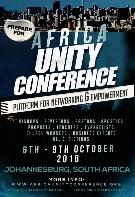 Africa Unity Conference 2016 flyer