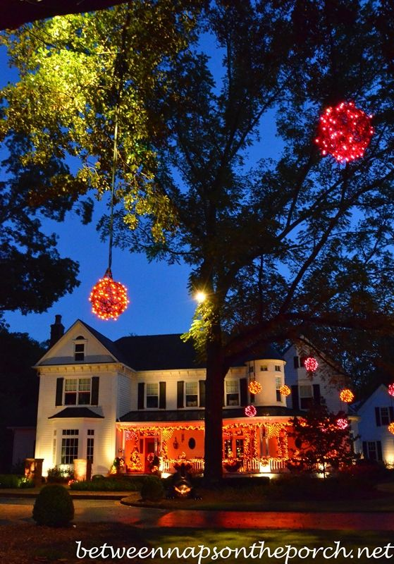 Beautiful Victorian Home Aglow for Halloween: