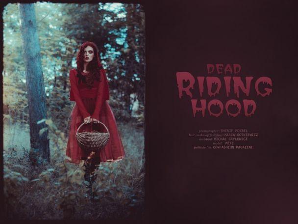 """Sherif Mokbel: """"Dead Riding Hood"""" http://www.confashionmag.pl/webitorial/artystyczny-czwartek-dead-riding-hood.html"""