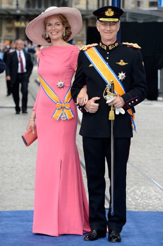 Princess Mathilde of Belgium and Prince Philippe of Belgium attends the Inauguration of King Willem Alexander of the Netherlands, 30 April 2013