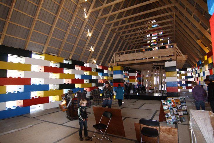 lego-like church, inside