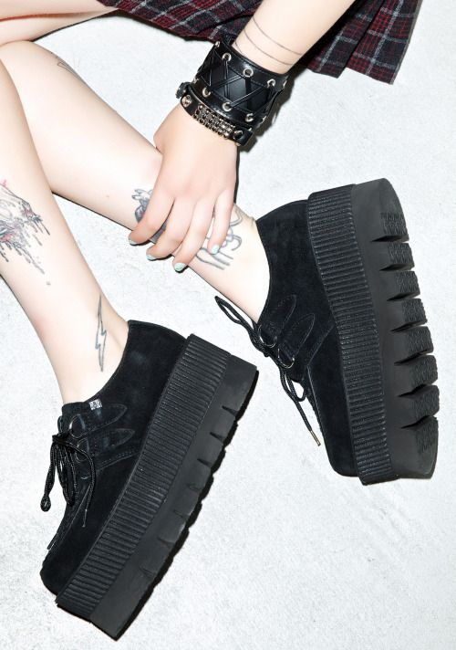 platform creepers  punk nu goth pastel goth goth creepers fachin platforms flatforms shoes plus size shoes plus dollskill