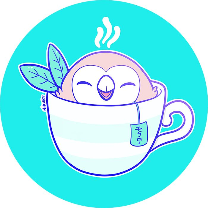 Pokemon Sun & Moon Rowlet tea by Nikury - nikury.com