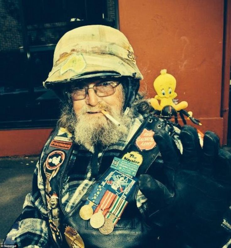 Animal proudly wore his Order of Australia medal on his biker vest along with patches of the Salvation Army and Wayside Chapel