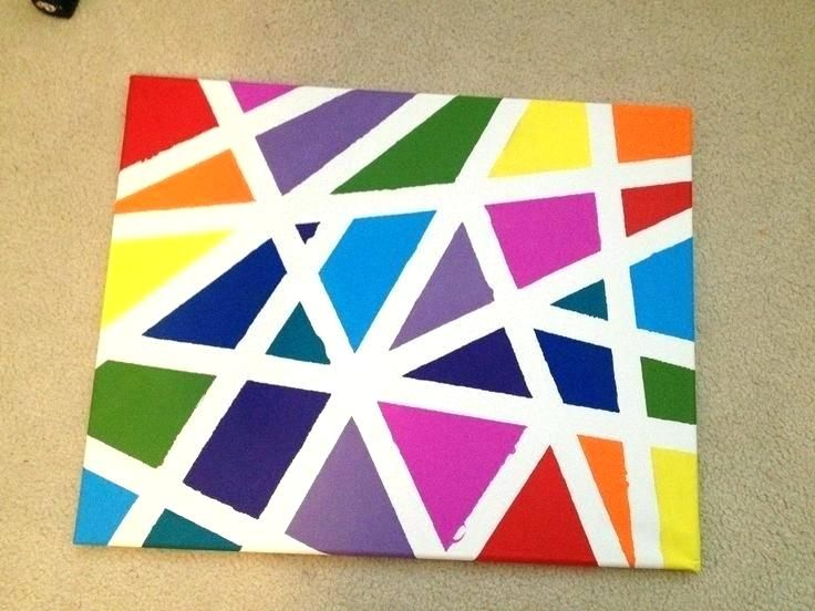Architecture Paint Tape Design Painting Easy Canvas Ideas Intended