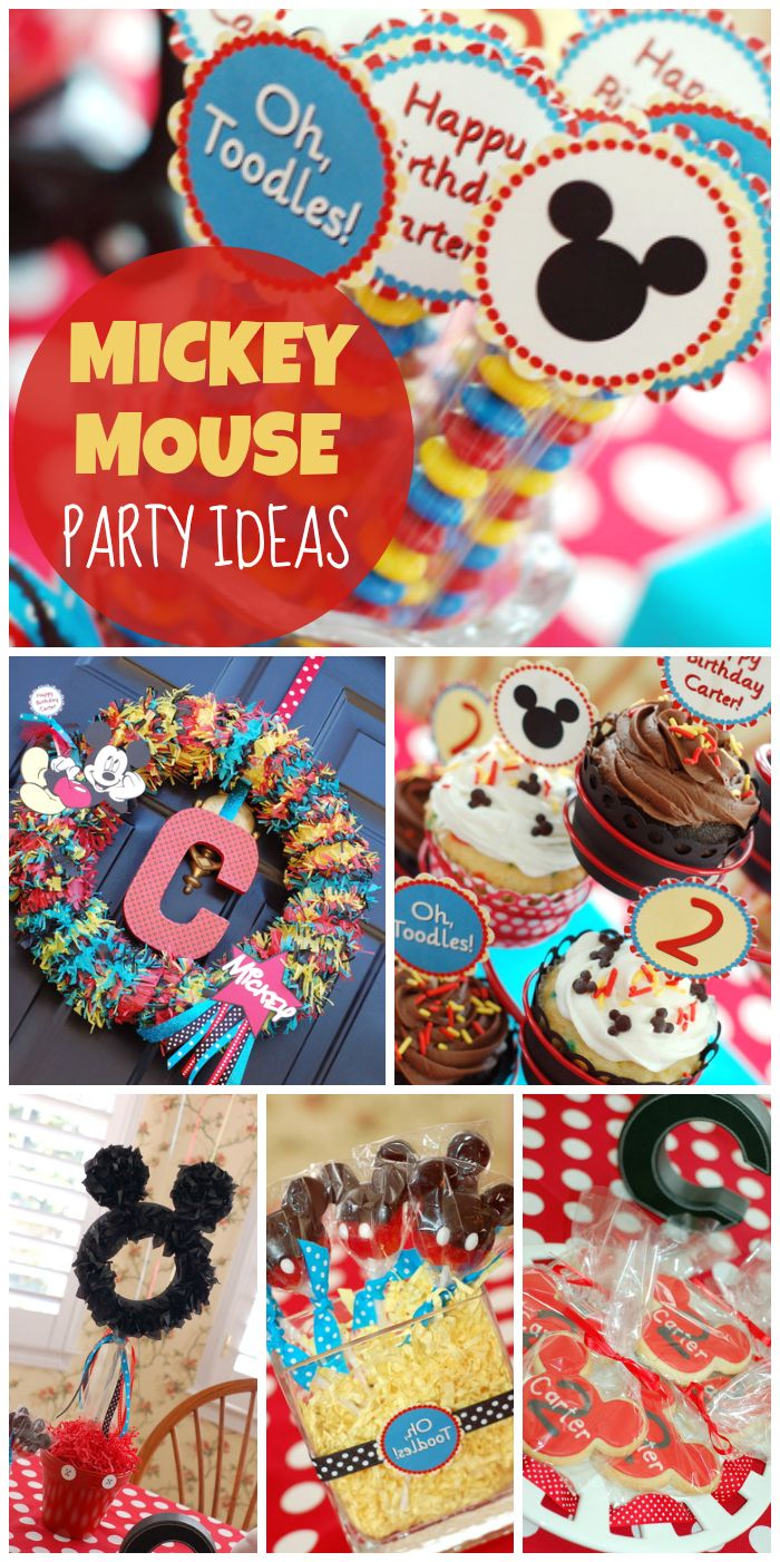 An amazing Mickey Mouse party with fantastic party decorations and ideas!  See more party ideas at CatchMyParty.com!