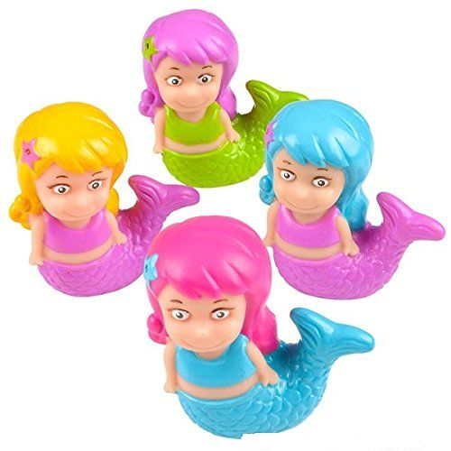12 Pack Squirting Bath Toys 3 Mermaid Squirts Baby and Children Bath Toys in Assorted Vivid Colors 1 Dozen * Want to know more, click on the image.