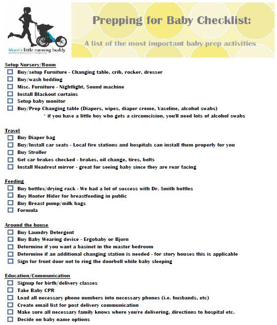 What a great checklist for prepping for baby! Pin it, print it and start planning!  Thanks @MomsLRB for the great list!