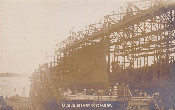 """RP: Launch of """"USS BIRMINGHAM"""" , Quincy , Massachusetts , 00-10s"""