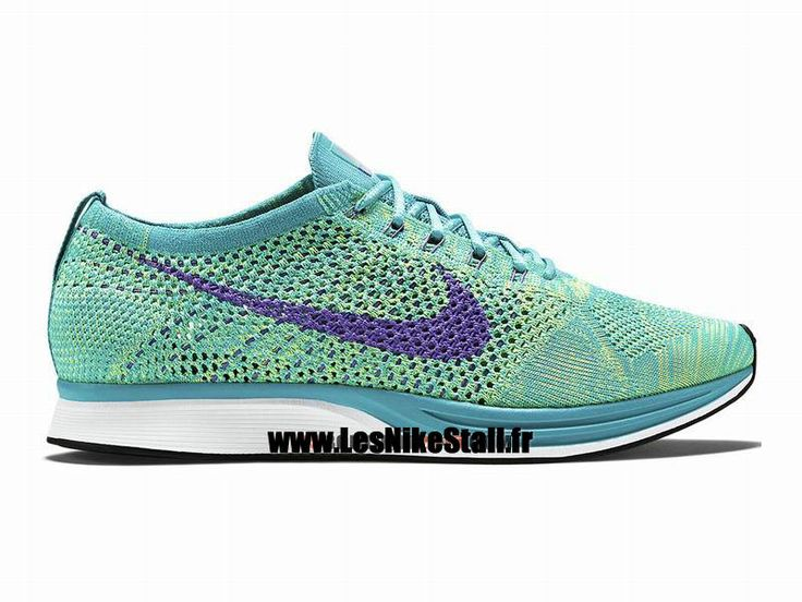 Officiel Nike Flyknit Racer Chaussure de Running Nike Mixte Pas Cher Pour  Homme Vert 526628-
