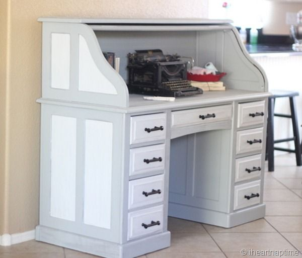 I have this desk and an antique typewriter.  Can't wait to paint it.
