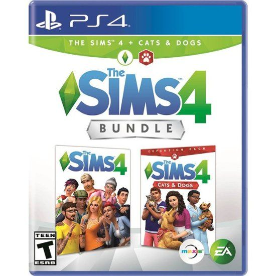 The Sims 4 Plus Cats And Dogs Bundle Standard Edition Playstation 4 37537 Best Buy Sims 4 Bundle Sims Xbox One Games