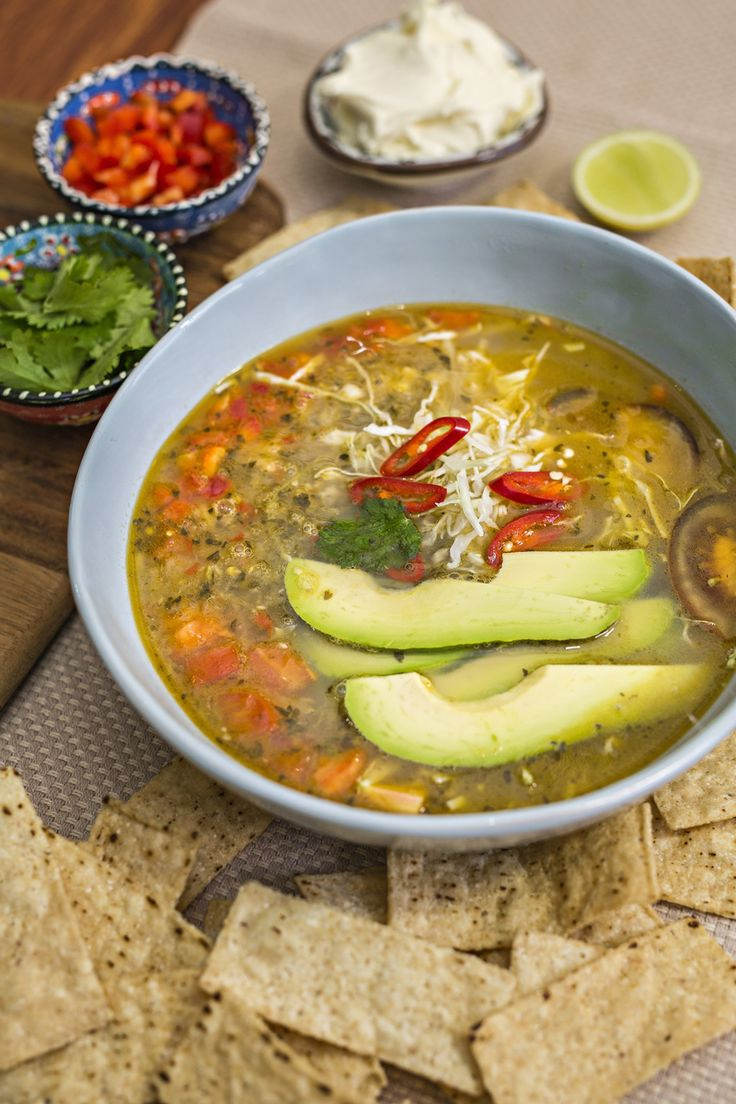 Thermomix chicken tortilla soup