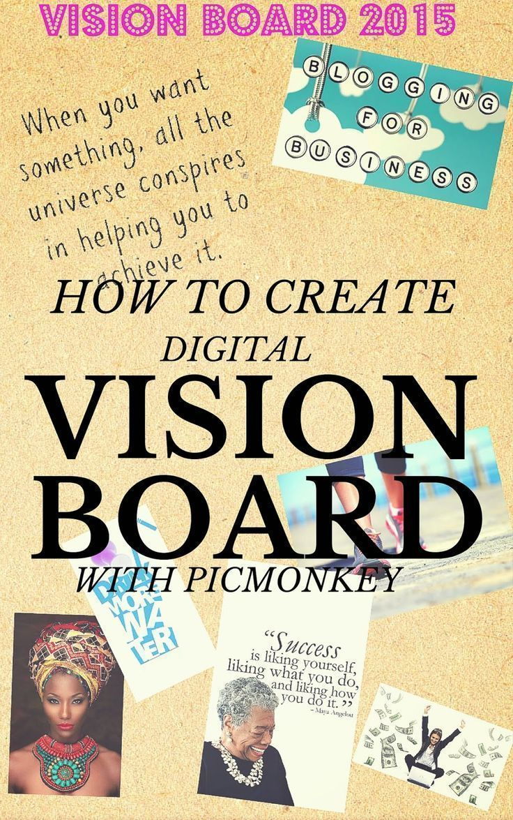 Goal setting for the new year with a Digital Vision Board created with PicMonkey. new year, new goals, how to create a vision board, easy steps to create vision board, law of attraction | Thriftanista in the City