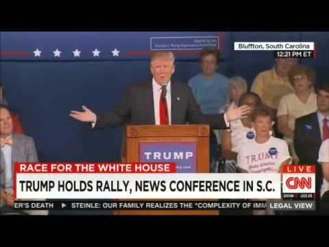 Donald Trump reads Lindsey Graham's cell phone number in over-the-top South Carolina stump speech