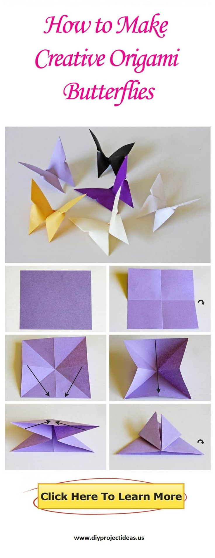photo tutorial: How to Make Creative Origami Butterflies