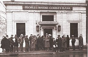 Banking Holiday- issued by Franklin Roosevelt Monday March 6, 1933