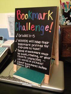Bookmark challenge library passive program