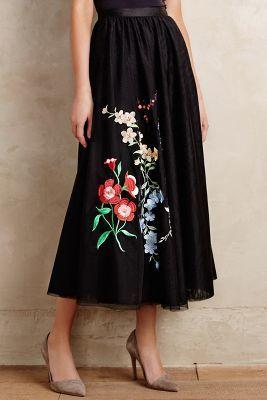 Sachin & Babi Floristic Tulle Skirt #anthrofave
