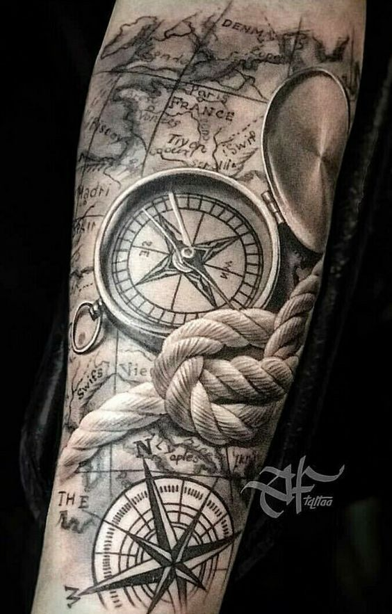 Map Tattoo Ideas tattoo #tattoos #mentattoo #mentattoos #tattoomen #tattoosformen