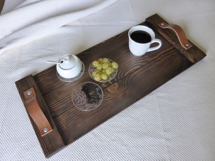 Rustic Wooden Tray Breakfast Tray Rustic Decor