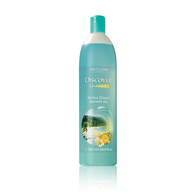 Αφροντούς Discover Hawaii Aloha Beach #oriflame Ταξιδέψτε στην μαγευτική παραλία Aloha, ενώ κάνετε μπάνιο με αυτό το υπέροχο αφροντούς που αναδύει ένα εξωτικό άρωμα από τροπικά φρούτα και θηλυκά λουλούδια. Σύνθεση με ισορροπημένο pH, κατάλληλη για όλη την οικογένεια. 750 ml Κωδικός:26263