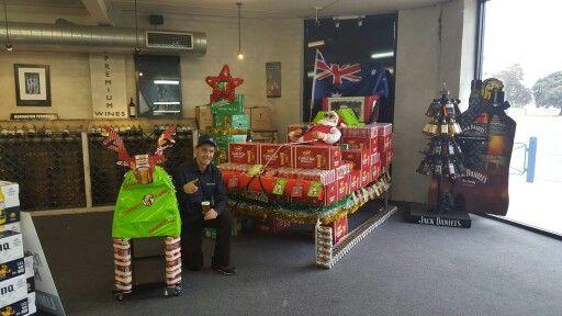 Santa Beer Display
