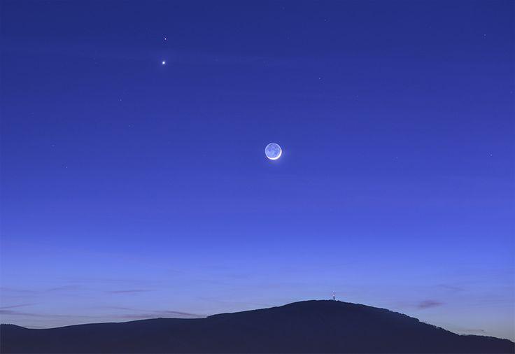 Poland ♥ - Skrzyczne #mountain #Moon #Venus #Mars