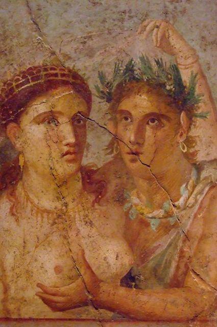 Pompei affresco, 1° secolo.