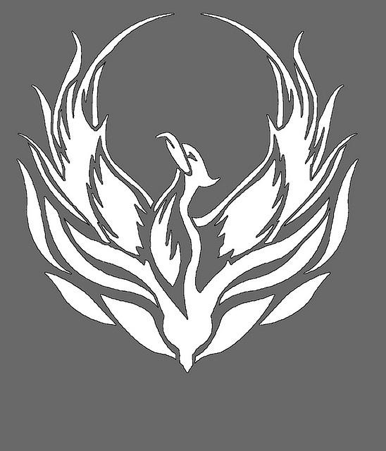 phoenix stencil by cindy gutierrez, via Flickr