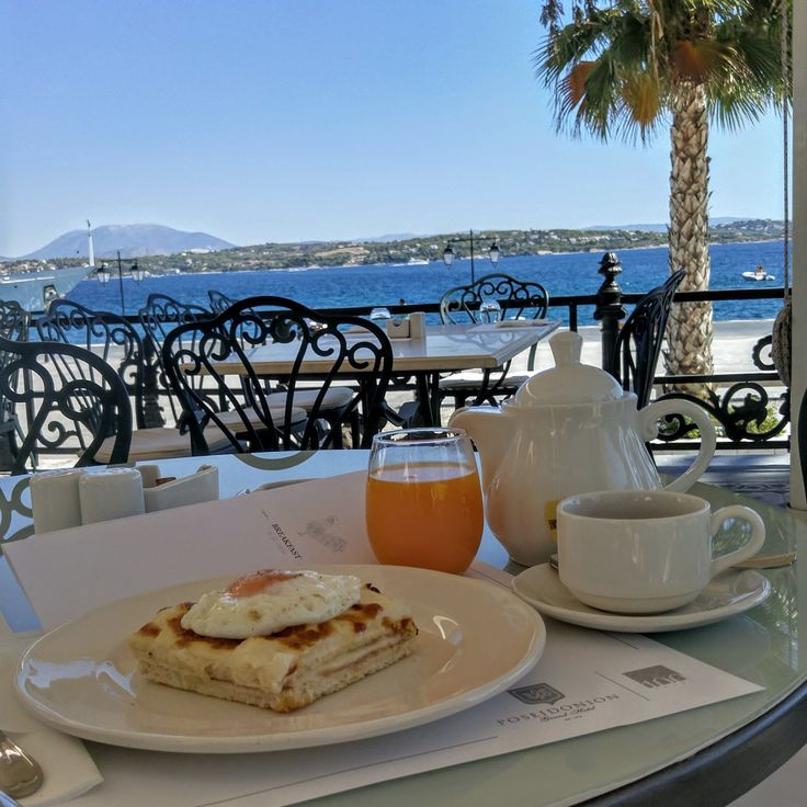 Croque Madame with a view
