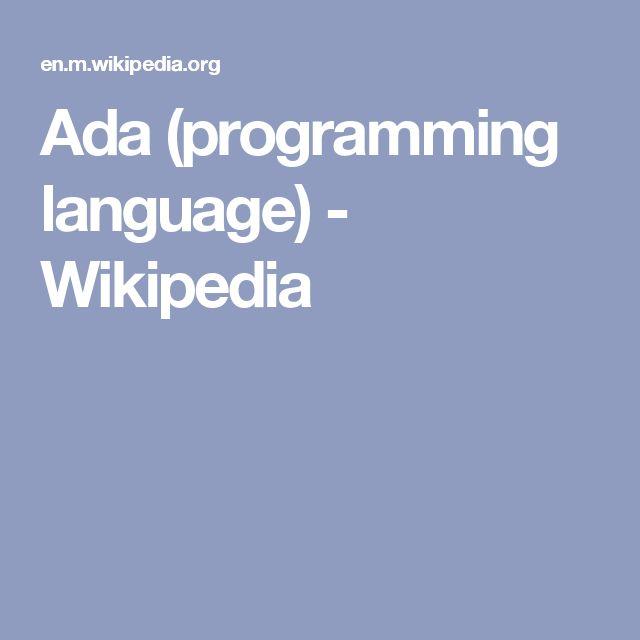 Ada (programming language) - Wikipedia