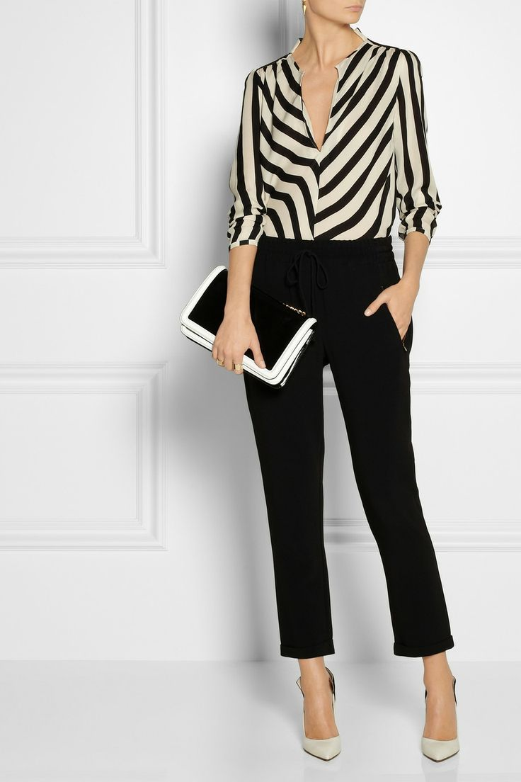 BW Striped silk top|By Malene Birger
