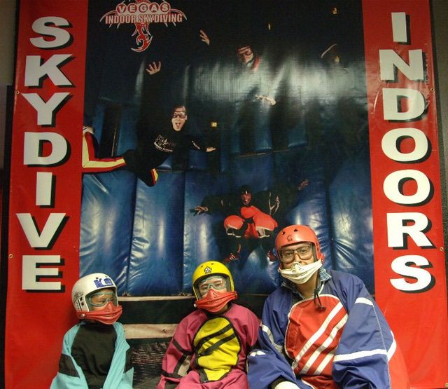 Indoor skydiving in Las Vegas is fun for the entire family and is located near the Las Vegas strip.