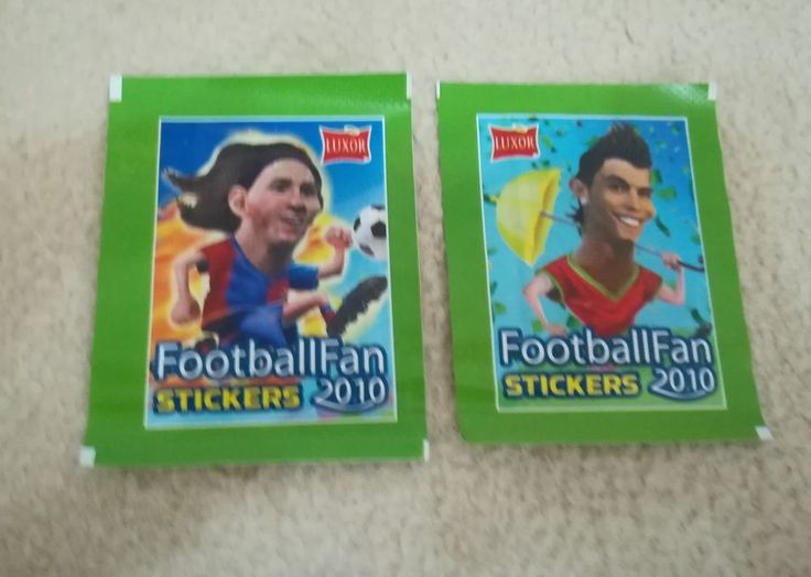LIONEL MESSI sticker pack packet bustina tute WORLD CUP 2010 Football Fan LUXOR